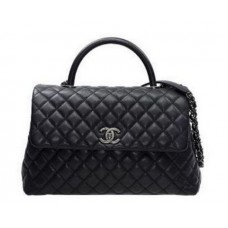 BOLSA CHANEL COCO LIZARD GRAINED FLAP HANDLE