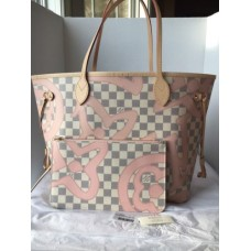BOLSA LOUIS VUITTON NEVERFULL DAMIER ROSE BALLERINE