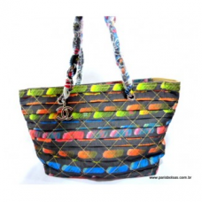 BOLSA CHANEL CANVAS COLORFUL